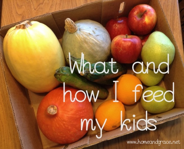 What I feed my kids