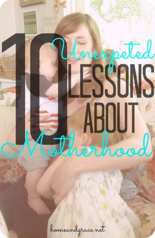 lessons about motherhood