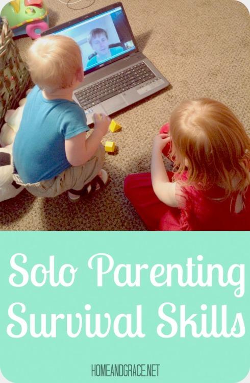 Solo parenting survival skills